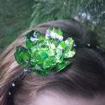 Recycled Can Green V Flower Headband
