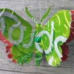 Recycled Can Green Spree Butterfly