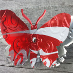Recycled Can Coca Cola Butterfly Magnet